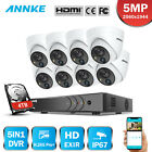 ANNKE H.265+ 8CH DVR 5MP Video PIR Detection Outdoor Security Camera System IP67