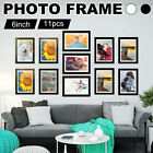 Modern 11pcs 6'' Photo Picture Clock Frame Love Family Friends Home Wall Mount