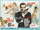 James Bond 007 From Russia with Love Vintage Movie Poster Canvas Picture £13.0 GBP on eBay
