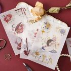 3 Sheets Magic Girls Washi Stickers DIY Journal Scrapbooking Diary Stationery