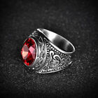 Fashion Unique Mens Wedding Jewelry Solid Stainless Steel Signet Gemstone Rings