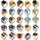 Kyпить Fashion Unique Mens Wedding Jewelry Solid Stainless Steel Signet Gemstone Rings на еВаy.соm