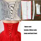 Zipper Replacement Knit Wedding Gown Corset Back Panel Loops Straps Satin Stocks