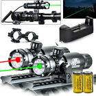 Tactical Red Green Laser Sight Rifle Dot Scope Switch Rail Barrel Mounts TOP