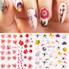 Nail Water Decals Flower Leaves Slider Transfer Stickers Nail Art Tattoos Paper