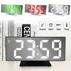 USB LED Digit Table Wall Clock Large 3D Display Alarm Clock Brightness Dimmer