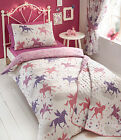 KIDS GIRLS DIVINE UNICORNS REVERSIBLE DUVET SET SINGLE & DOUBLE