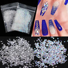 Clear Black 3D Nail Rhinestones Sharp Bottom Nail Art Jewelry Decoration Tips
