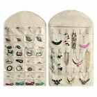 80 Pockets Jewelry Hanging Organizer Storage Holder Earring Bag Pouch Display US