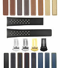 19-20-22MM LEATHER WATCH BAND STRAP FOR ORIS ARTIX SPORT PERFORATED + D/CLASP image