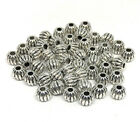 antiqued silver Tibetan style corrugated round beads 6mm
