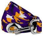 Country Brook Petz® Purple and Gold Camo Dog Leash