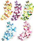 12pcs 3d Butterflies Wall Sticker Stickers For Home Wall Room Decor
