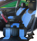 PU Leather Car 5 Seats Covers Cushion 9 Pieces Front & Rear Dodge 88255 Bk/BL $89.95 USD on eBay