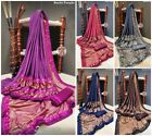 saree sari indian designer silk wear pakistani wedding blouse new party fancy