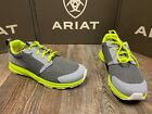 Men's Fuse Athletic shoe by Ariat. Charcoal mesh/neon green