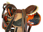 COWGIRL BARREL RACING WESTERN HORSE SADDLE 15 16 PLEASURE TRAIL TOOLED LEATHER