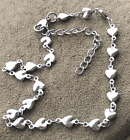 """Stainless Steel HEARTS and MORE Hearts  Anklet  9 1/2"""" + 2"""" Extension  $7.39  image"""