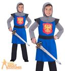 Kids Medieval Knight Costume Boys Historical World Book Day Fancy Dress Outfit