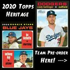 2020 Topps Heritage Pre-Sell PICK YOUR TEAM !! Yordan Bichette Aquino Rookie !! on Ebay