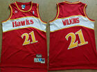 DOMINIQUE WILKINS #21 Atlanta Hawks Red Men's Throwback Swingman Jersey on eBay