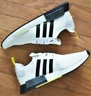 Adidas NMD R1 - New Men's STLT Primeknit Shoes Boost Yellow Black White