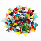 200g/400pcs Triangle Mini Loose Tiffany Stained Glass Strip Mosaic Hobbies DIY