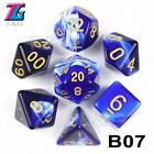 7Pcs/Set Polyhedral TRPG DND Games For Opaque D4-D20 Multi Sides Dice for Board