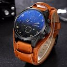 Curren Military Leather Chronograph Sport Men Boys Quartz Analog Wrist Watch US image