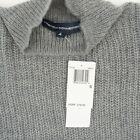 French Connection Womens Top Crossback Mock Neck Sleeveless Sweater Gray $118
