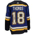 Robert Thomas St Louis Blues Autographed Adidas Home Jersey