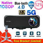 Mini HD Smart Projector Home Theater WIFI Android Proyector Backyard Basement BT
