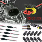 20 X 2 4 Pin Car Waterproof Electrical Connector Plug 20 AWG Wire Marine Outdoor