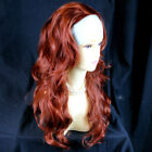 Wiwigs Copper Red,Medium Brown 3/4 Fall Hairpiece Long Wavy Layered Half Wig