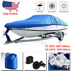 17-22Ft Pontoon Boat Cover Waterproof Heavy Duty Fabric Fishing Ski Trailerable