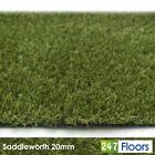 Saddleworth 20mm Realistic Artificial Grass Garden Natural Fake Turf 2m 4m CHEAP