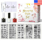 BORN PRETTY Stamping Kit Geometry Flower Nail Stamp Plates Polish Stamper Set
