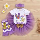 Kyпить US My 1st Easter Newborn Baby Girl Clothes Tops Romper Tutu Skirt Outfits 4PCS на еВаy.соm