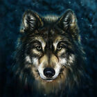 Home Decoration wall Art Wolf Animal oil painting picture HD Printed on Canvas