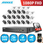 ANNKE 16CH 3MP DVR H.265+ 2MP 1080P TVI Outdoor Security Camera System Smart DNR