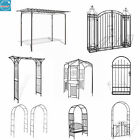 Garden Arch/Arbours Metal Entry Gate Rose Flowers Climbing Plant Support Pergola