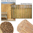Garden Panel Fencing Reed Privacy Screening Peeled 4m Natural Bamboo Wall Screen