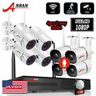 ANRAN 1080P Outdoor WiFi Security Camera System Wireless CCTV 8CH NVR With 1TB