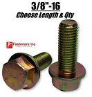 3/8-16 Grade 8 Flange Frame Bolt Yellow Zinc Plated (all Sizes & Qty's) 3/8