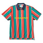 "Diamond Supply ""Striped"" Short Sleeve Polo Tee (Multi) Men's Button Up Shirt"