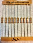 20 pcs -  carbon film 1/2 watt 5% resistors Many Values - You choose !!