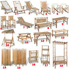 Bamboo Deck/Swing Chair Rustic Bar Stool Table Lounger Bench Divider Furniture