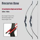 Takedown Recurve Bow 57 inch Hunting 3D Archery Target Practice Right Left Hand