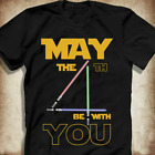 Star Wars T-shirt May The 4th Be With You Size S-5XL $16.99 USD on eBay