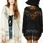 UK+Women+Lace+Crochet+Batwing+Sleeve+Kimono+Tops+Cardigan+Sun+Coat+Jacket+Plus